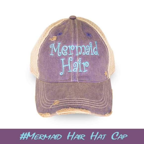 c088bfe3 New Mermaid Hair Distressed Trucker Cap in Women. Boutique. Georgia Girl